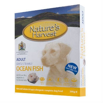 natures harvest ocean fish and brown rice adult