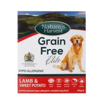 natures harvest grain free elite lamb and sweet potato